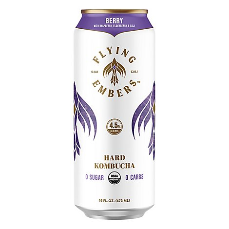 Flying Embers Berry Kombucha In Cans