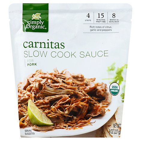 Simply Organic Sauce Slow Cook Carnitas