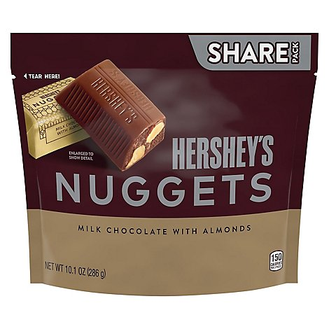 HERSHEYS Nuggets Milk Chocolate With Almonds Share Pack - 10.1 Oz