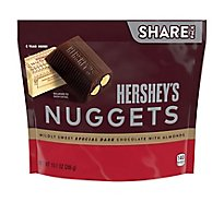 HERSHEYS Nuggets Special Dark Chocolate Mildly Sweet with Almonds Share Pack - 10.1 Oz
