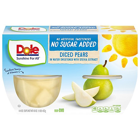 Dole Nsa Pears In Water - 16 Oz