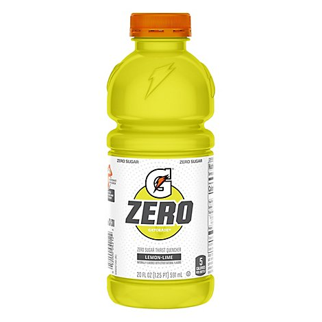 Gatorade Zero Sugar Thirst Quencher Lemon Lime - 20 Fl. Oz.