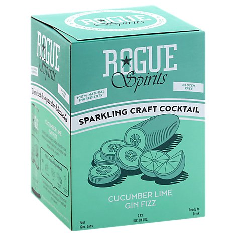 Rogue Rtd Cucumber Lime Gin Fizz Can - 4-12 Fl. Oz.