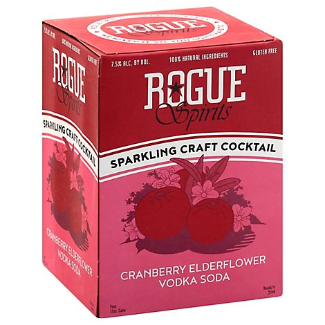 Rogue Rtd Cranberry Vodka Soda Can - 4-12 Fl. Oz.