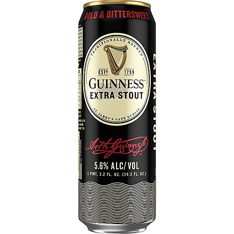 Guinness Stout Extra In Cans - 19.2 Fl. Oz.