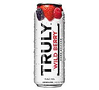 Truly Hard Seltzer Spiked & Sparkling Water Wild Berry 5% ABV Can - 24 Fl. Oz.
