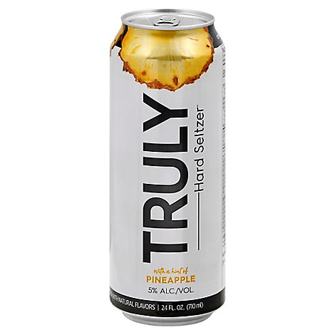 Truly Hard Seltzer Spiked & Sparkling Water Pineapple 5% ABV Can - 24 Fl. Oz.