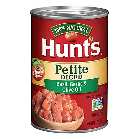 Hunts Diced Tomatoes Garlic And Olive Oil - 14.5 Oz