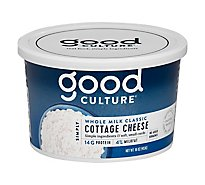 Good Culture Simply Cottage Cheese Whole Milk 4% Milkfat Classic - 16 Oz