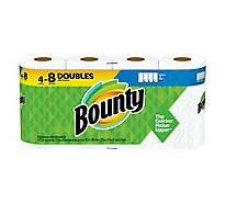 Bounty Paper Towels Select A Size Double Rolls White - 4 Roll