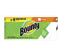 Bounty Paper Towel Full Double Rolls 2 Ply Sheets White - 4 Roll
