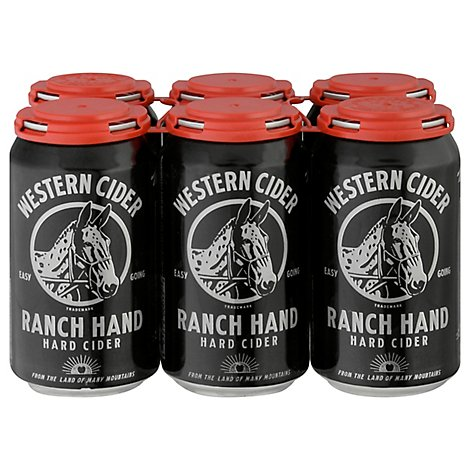 Western Cider Ranch Hand In Cans - 6-12 Fl. Oz.