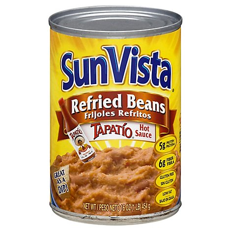 Sun Vista Tapatio Refried Beans - 16 Oz