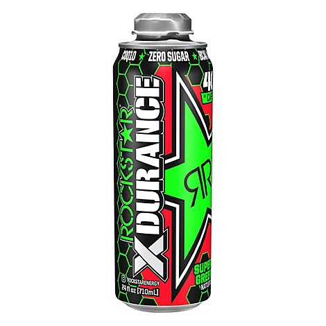 Rockstar Energy Drink Super Sours Green Apple - 24 Fl. Oz.