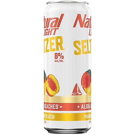 Natural Light Seltzer Aloha Beaches    25 Fz Can - 25 Fl. Oz.