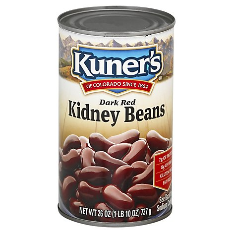 Kuners Beans Kidney Dark Red - 26 Oz