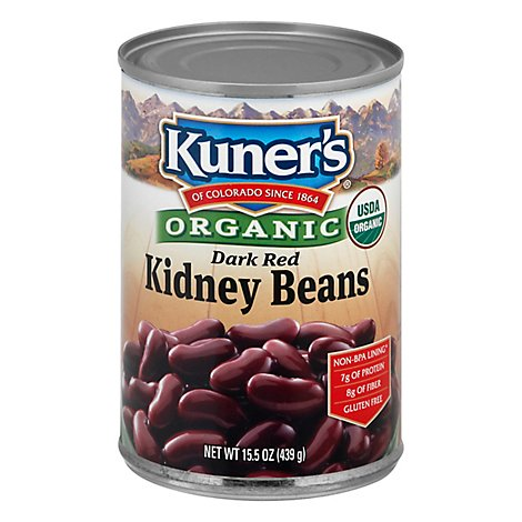 Kuners Organic Red Kidney Beans - 15.5 Oz