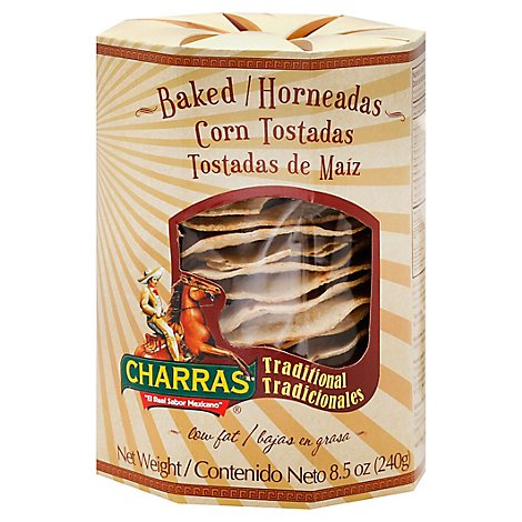 Charras Tostadas Corn Baked Traditional - 8.5 Oz