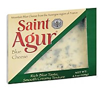 Saint Agur Wedge In Tray Blue Cheese - 4.5 Oz