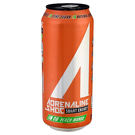 Ashoc Peach Mango Energy Drink - 16 Fl. Oz.