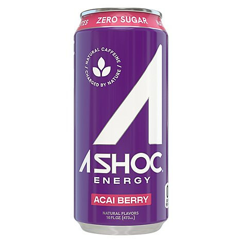 Ashoc Acai Berry Energy Drink - 16 Fl. Oz.