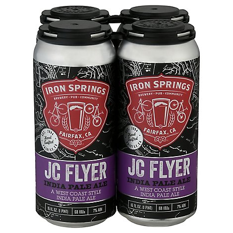 Iron Springs Jc Flyer Ipa In Cans - 4-16 Fl. Oz.