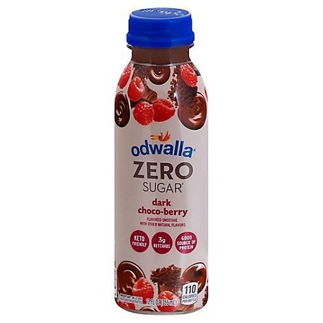 Odwalla Zero Sugar Smoothie Dark Choco Berry - 12 Fl. Oz.