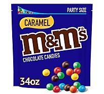 M&Ms Caramel Stand Up Pouch - 34 Oz