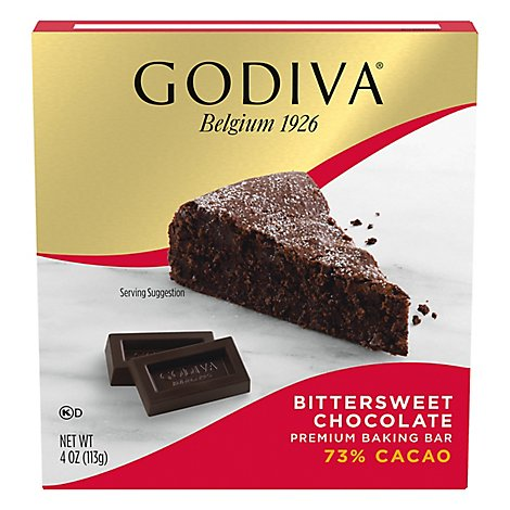 Godiva Baking Bar Premium Bittersweet Chocolate - 4 Oz