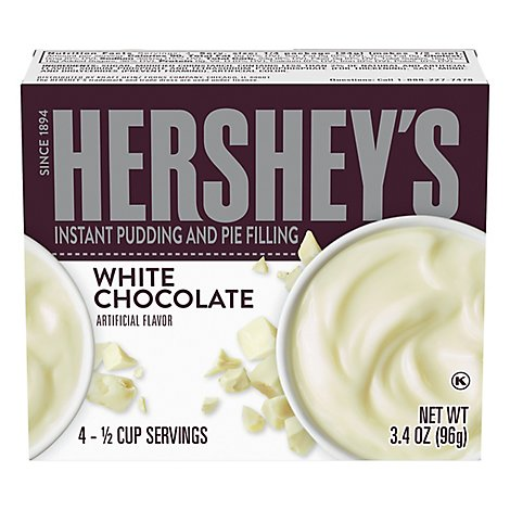 HERSHEYS Pudding Mix Instant White Chocolate - 3.4 Oz