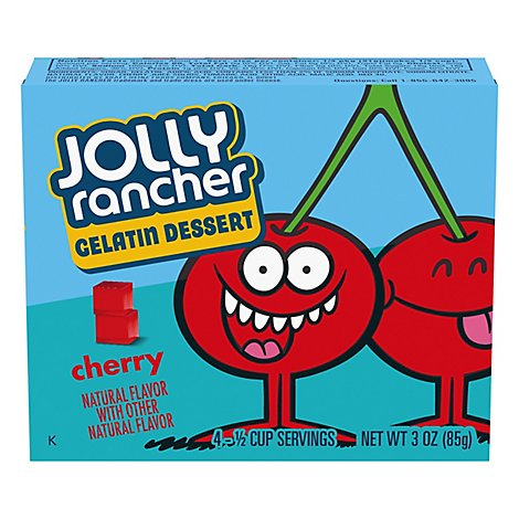 Jolly Rancher Gelatin Dessert Cherry - 3 Oz