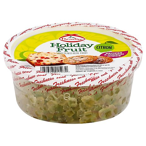 Paradise Holiday Fruit Sweetened Candied Citron Diced - 8 Oz