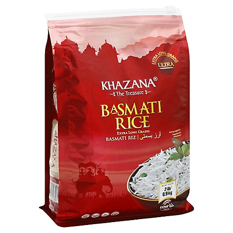 Khazana Rice Basmati Ex Long - 2 Lb