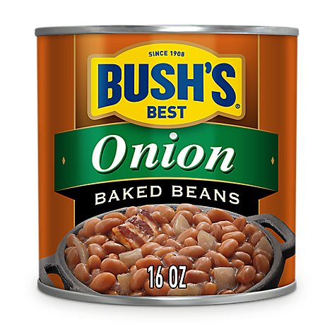 BUSHS Beans Baked With Onion - 16 Oz