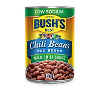 Bushs Low Sodium Red Beans In A Mild Chili Sauce - 15 Oz
