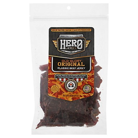 Hero Jerky Classic Beef Original - 10 Oz