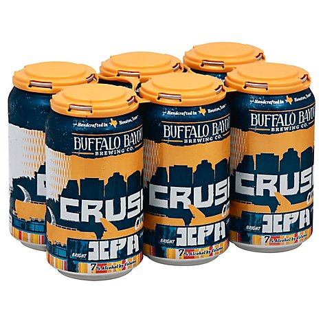 Buffalo Bayou Brewing Crush City Beer IPA Cans - 6-12 Fl. Oz.