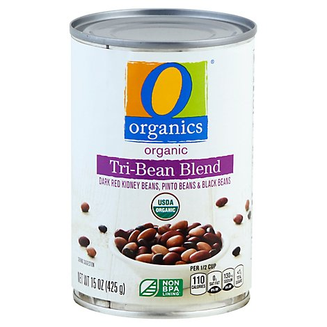 O Organics Three Bean Blend - 15 Oz