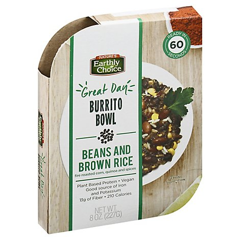 Natures Earthly Choice Bean Bowl Burrito - 8 Oz
