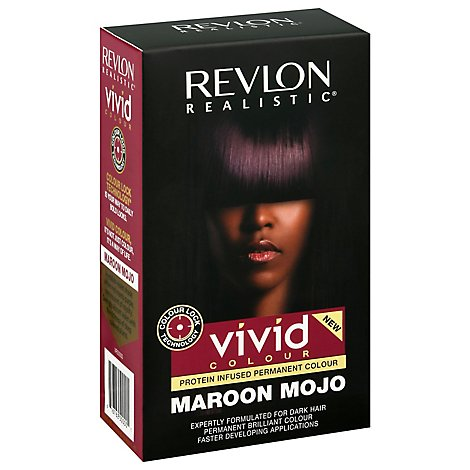 Revlon Realistic Vivid Hair Color Permanent Maroon Mojo - Each