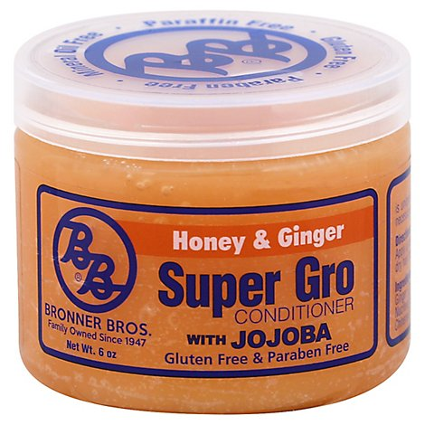 Bronner Bros. Super Gro Conditioner With Jojoba Honey & Ginger - 6 Oz