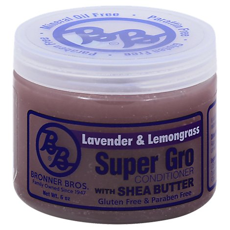 Bronner Bros. Super Gro Conditioner With Shea Butter Lavender & Lemongrass - 6 Oz