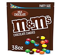 M&Ms Candies Chocolate Milk Party Size - 38 Oz