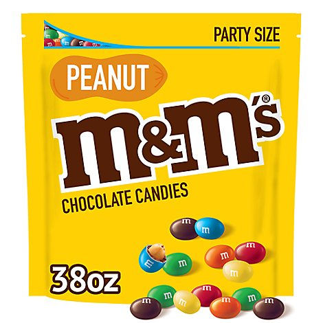 M&Ms Candies Chocolate Peanut Party Size - 38 Oz