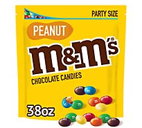 M&Ms Chocolate Candy Peanut Party Size - 38 Oz