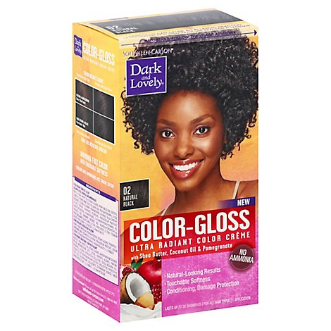 Dark and Lovely Color Gloss Hair Color Natural Black 02 - Each