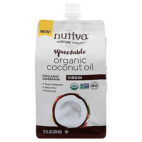 Nutiva Oil Coconut Virgin Pouch - 12 Oz