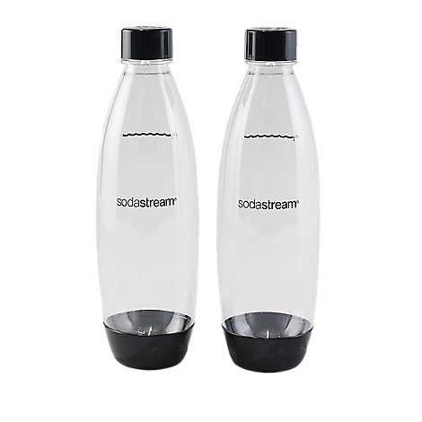 SodaStream Slim Carbonating Bottle Black Twinpack - 2 Count