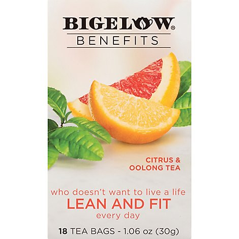 Bigelow Benefits Oolong Tea Citrus 18 Count - 1.06 Oz