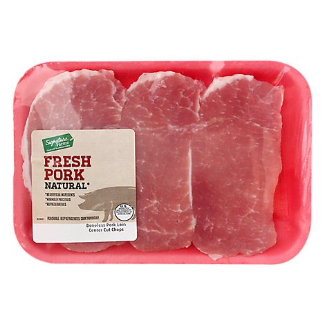 Pork Loin Center Cut Chops Boneless - 1 Lbs